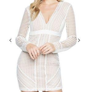 Bardot Clio Paneled Dress  SZ 6 Small  White